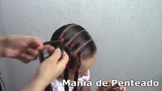 آموزش مدل مو بچه گانه دختر با بافت قلبی- مومیس مشاور و مرجع تخصصی مو
