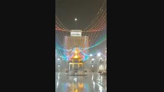 بارش باران در حرم امام رضا علیه السلام  و نوای نقاره در شب عید مبعث
