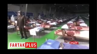 اقدام ارتش برای جلوگیری از تجمع مردم جلوی بیمارستان ها