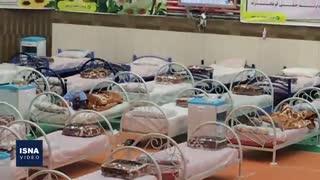 مرکز موقت قرنطینه بیماران کرونایی در شیراز