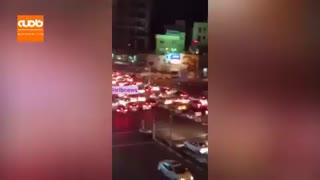 اتفاق عجیب دیشب در بلوار اندرزگوی تهران + ویدئو