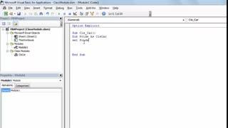 آموزش Class Module در ماکرونویسی اکسل( قسمت اول)