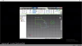 اموزش ایجاد طرح سه بعدی در نرم افزار atodesk inventor