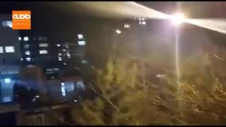 سرود ای ایران از بالکن خانه ها در کرمانشاه و قدردانی از کادر پزشکی