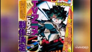 ساخت فصل پنجم انیمه Boku no Hero Academia تایید شد.