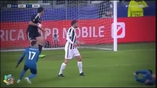 سوپر گل کریستیانو رونالدو با قیچی برگردان  پرواز ۳ متری به یوونتوس در لیگ قهرمانان