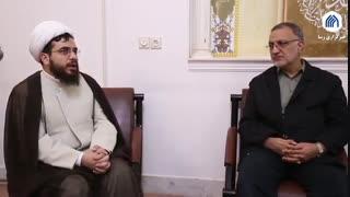 بازدید زاکانی از کمیته اعزام داوطلبان به بیمارستان ستاد حوزوی بحران