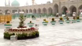 بارش رحمت الهی و حال و هوای حرم مطهر رضوی