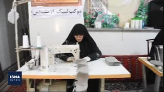 تولید ماسک در منزل توسط زنان سمنانی