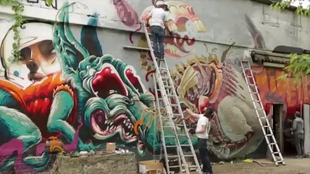 مستند نقاشی گرافیتی و هنرمندان این سبک نقاشی در جهان