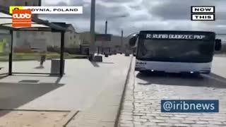 اتوبوس ها هم ماسک زدند!